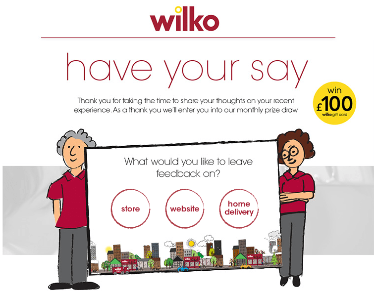 www.wilkohaveyoursay.com Wilko Customer Survey