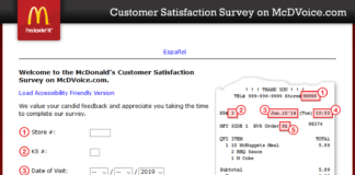 www.mcdvoice.com For McDonald's Customer Satisfaction Survey