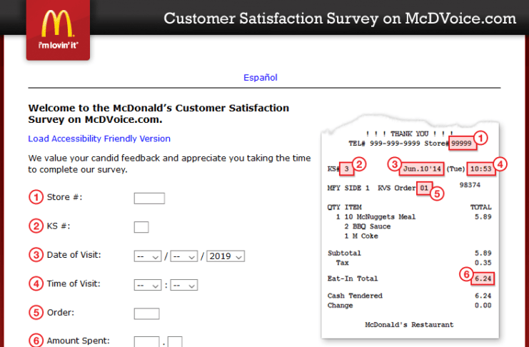 www.mcdvoice.com For McDonald's Customer Satisfaction Survey