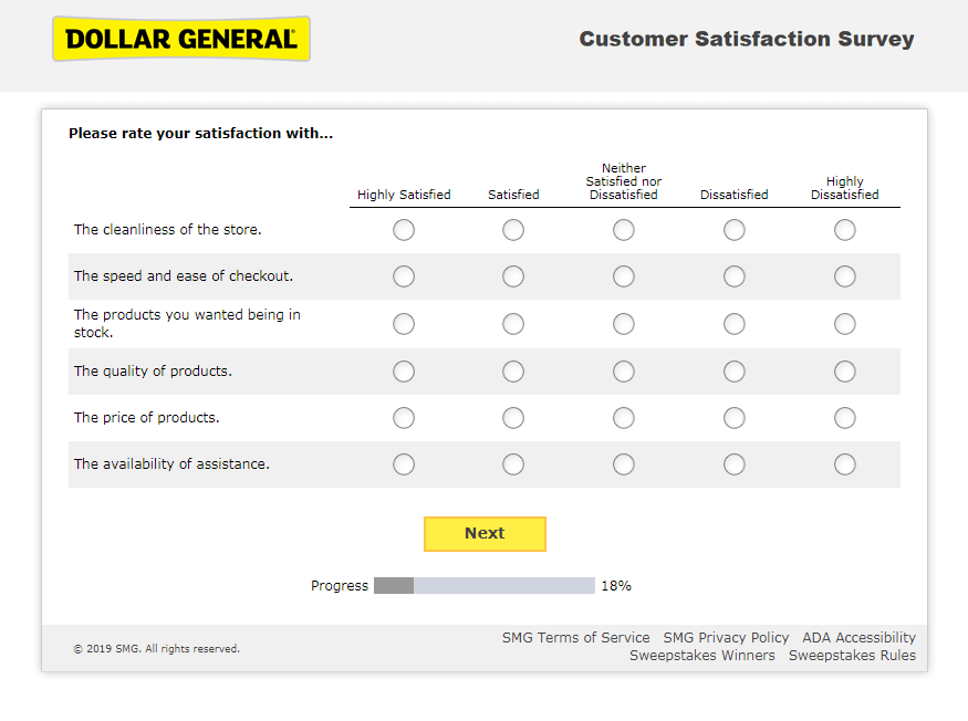 DG Customer First Survey