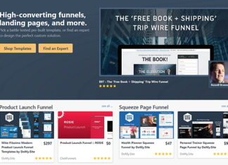Affiliate program for Clickfunnels templates