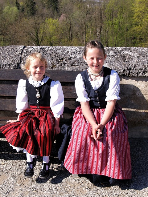 bavarian, children, girls