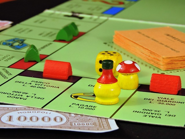 play, board game, monopoly