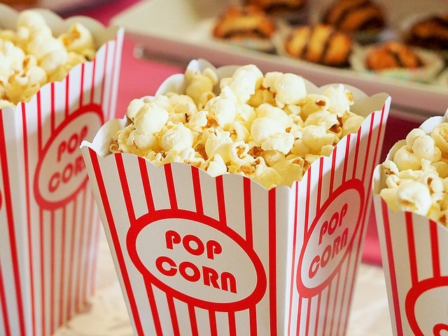 popcorn, movies, cinema