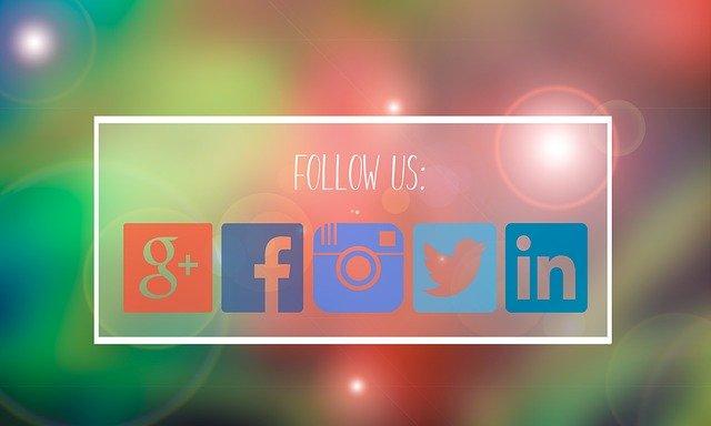 follow us, facebook, google plus