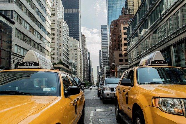 taxi cab, traffic, cab