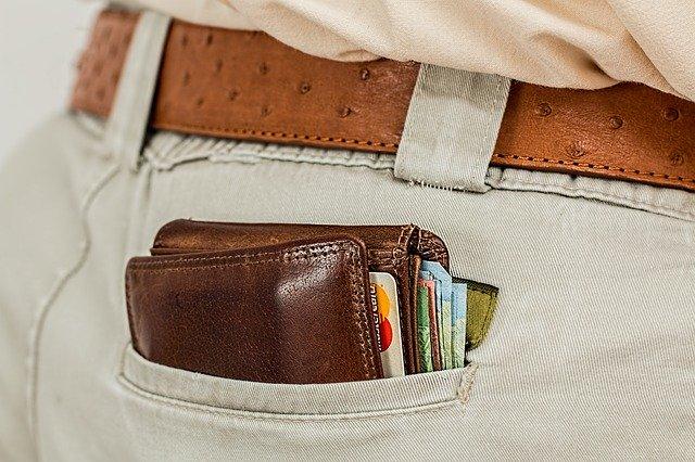 wallet, cash, credit card