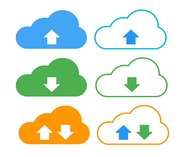 download, upload, cloud