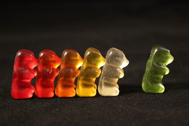 gummi bears, sweetness, colorful