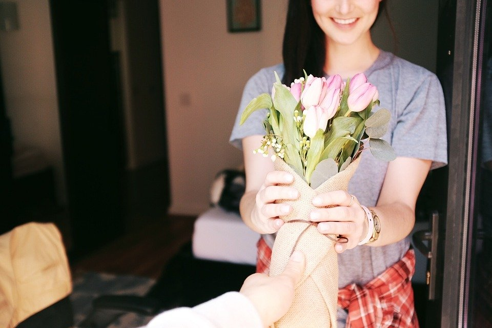 Bouquet, Flowers, Gift, Gesture, Romantic, Tulips